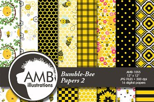 Bumble Bee Digital Papers 1055