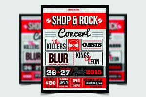 Shop & Rock Flyer Template / Poster
