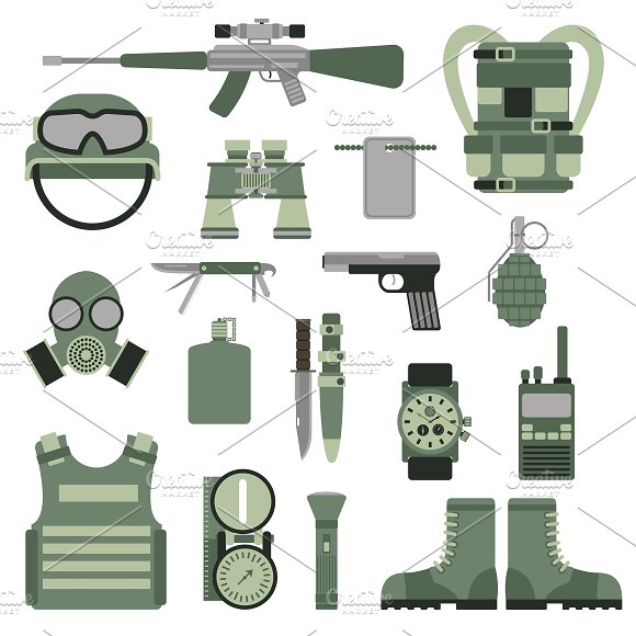 Military army symbols vector