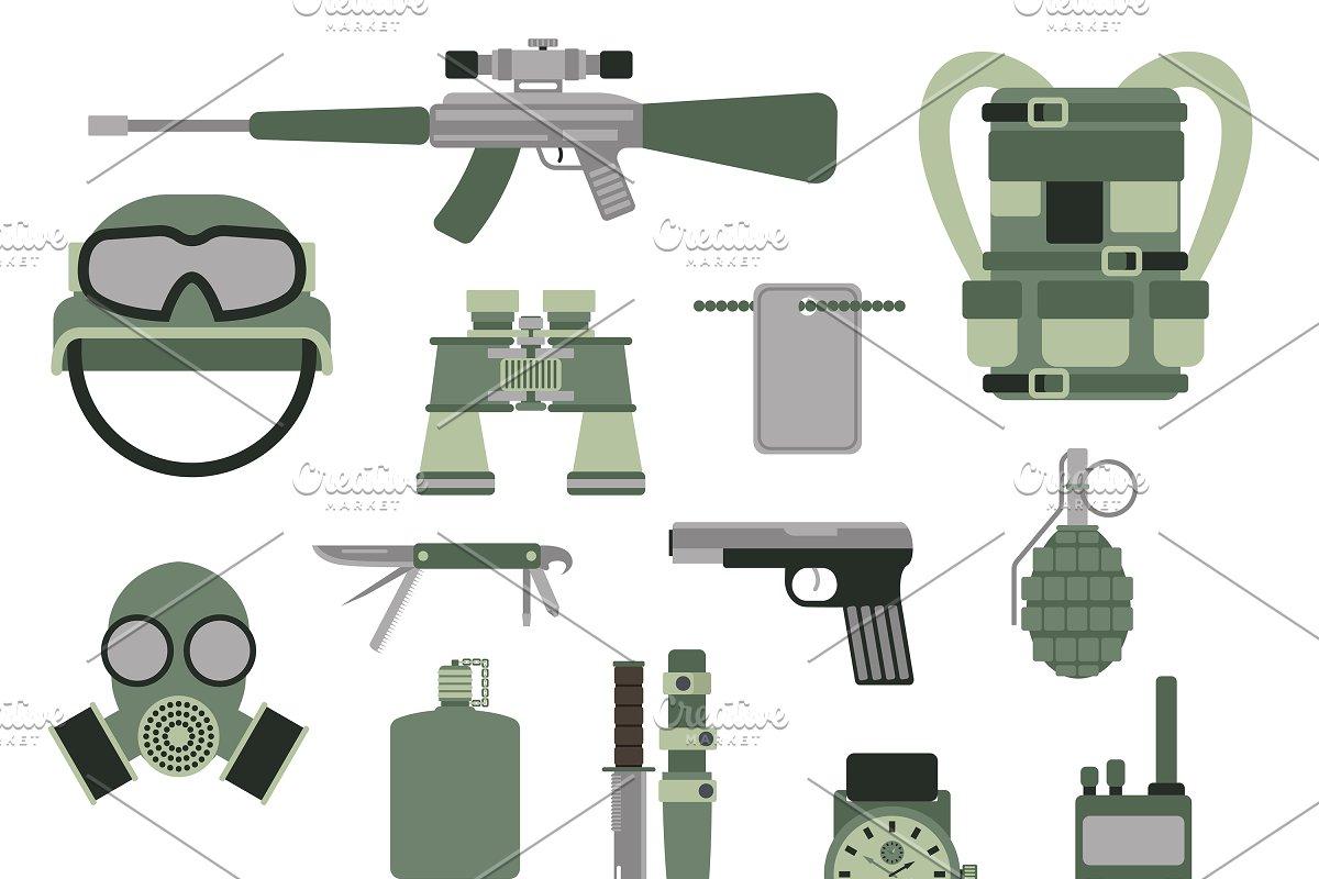 Military army symbols vector