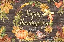 Watercolor Happy Thanksgiving