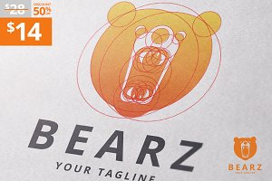 Bearz - Golden Ratio Bear Logo