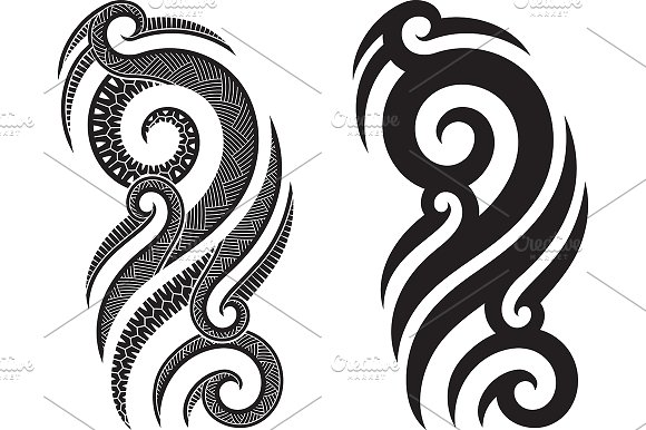 Maori Tattoo Patterns 40x Graphic Patterns Creative Market Best Maori Patterns