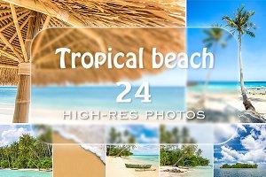 Tropical beach 24 photos bundle