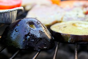 Grilling Vegetables in the Garden