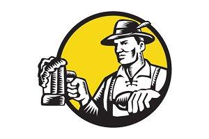 Bavarian Beer Drinker Mug Circle