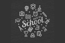 Back to School Concept. Vector