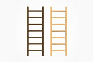 Set of Various Ladders. Vector