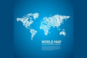 World Map Stylize. Vector
