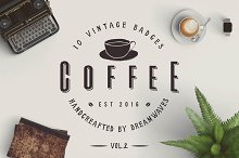 10 Vintage Coffee Badges Vol.2