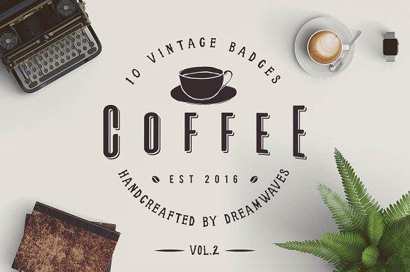 10 Vintage Coffee Badges Vol.2 - Logos