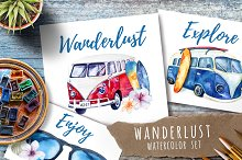 Watercolor travel set