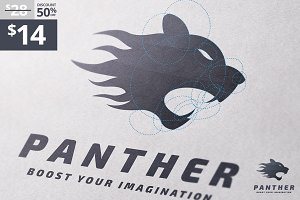 Panther - Golden Ratio logo