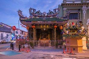 Choo Chay Keong Temple, George Town, Penang, Malaysia.