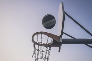 Beat Up Basketball Goal