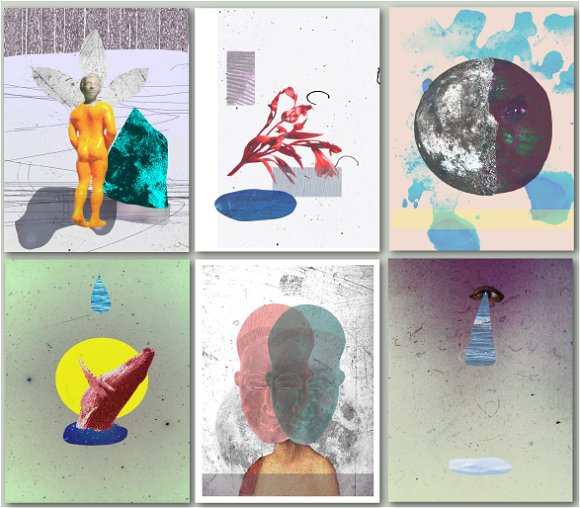 set collage template for poster illustrations creative market