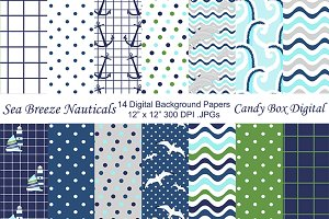 Sea Breeze Nautical Background Paper