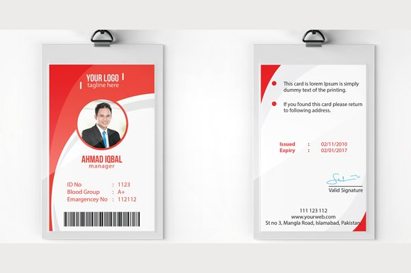 Employee id card format psd best business cards for Id home design