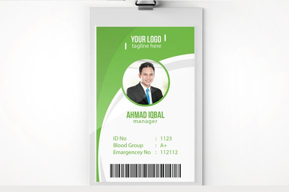 employee id card template card templates creative market