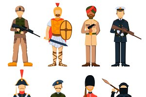 Military soldiers vector