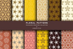 Floral linear patterns