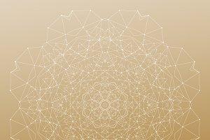 Bundle of 7 golden backgrounds