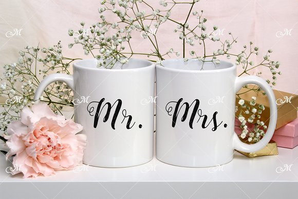 Download Two Mugs Mockup Stock Photo