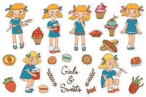 Girls and sweets