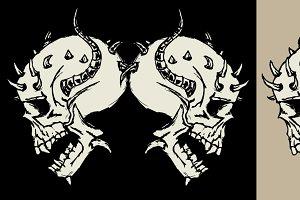 doodle skulls