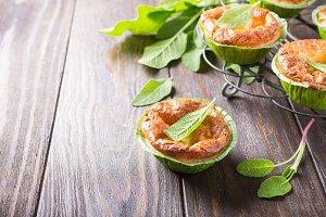 Savory cheddar cheese and leek mini pies