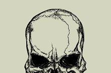 Evil skull in dotted technique