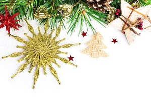 Christmas background with fir star