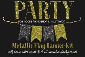 Flag Banner Clipart + BONUS!