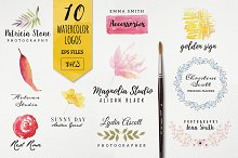 10 watercolor logo vol3
