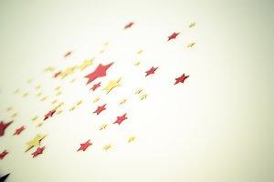 golden red stars