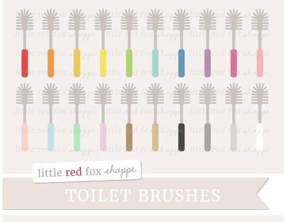 Toilet Brush Clipart Illustrations Creative Market