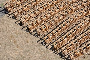 chairs on wood