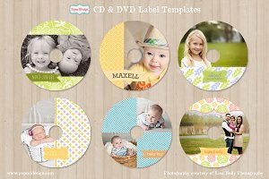 Cheerful CD / DVD Label Templates