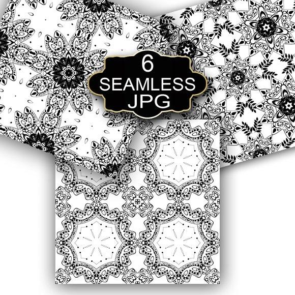 Lace seamless pattern.Monochrom.2 - Patterns