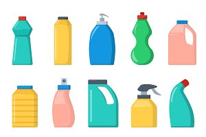 Bottle template flat vector