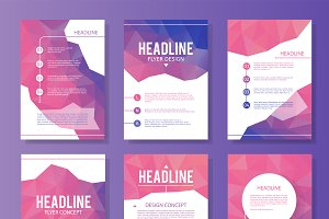 Abstract brochure design vector
