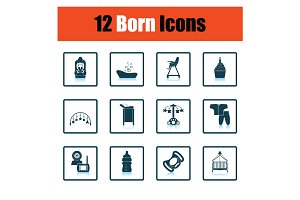 Set of born icons