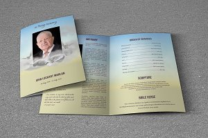 Funeral Program Template-T583
