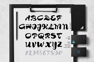 Brush font Tim