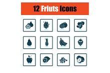 Fruit icon set