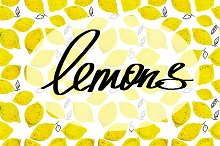 lemons. watercolor.