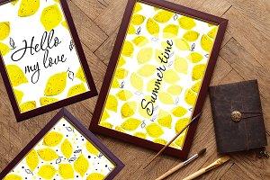 lemons. watercolor.SALE