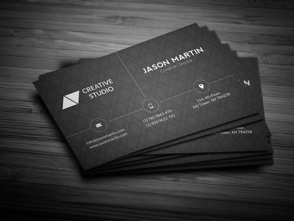 Corporate dark business card business card templates creative market colourmoves