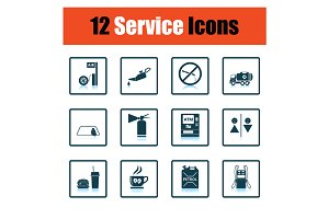 Set of Petrol station icons