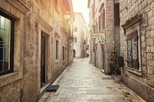 Street in Kotor, Montenegro